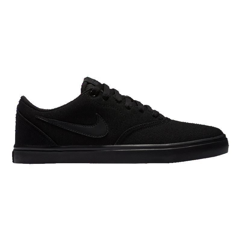 b3944f9c62c3 Nike SB Women s Check Solar Canvas Skate Shoes - Black Anthracite