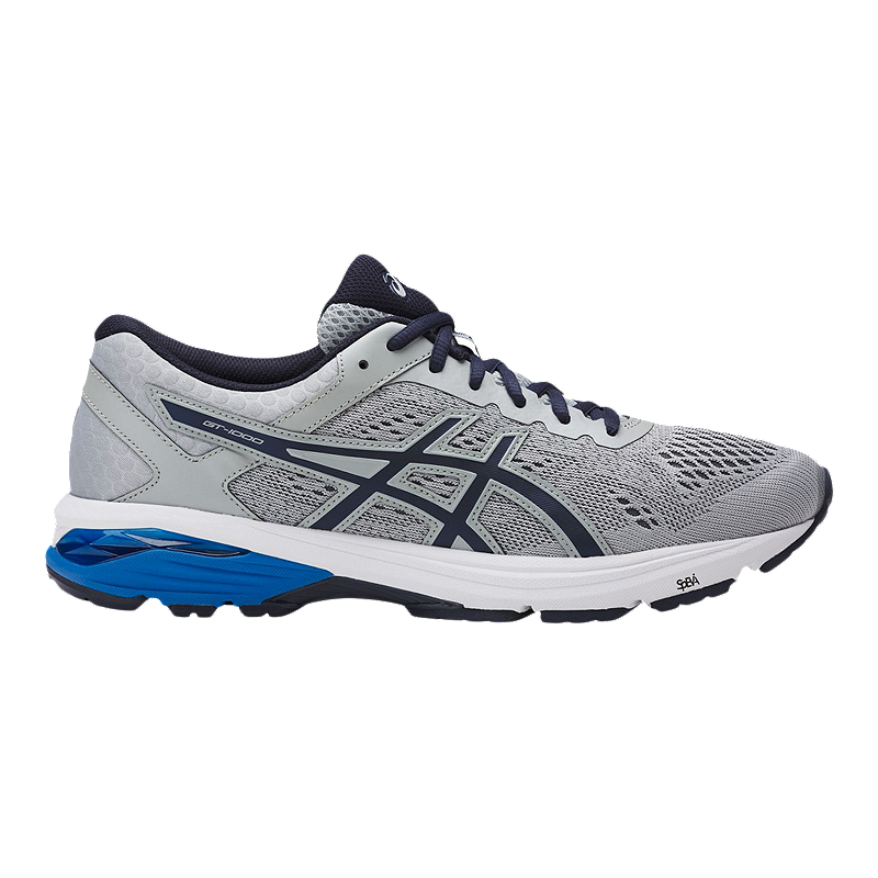 triatlón Teórico Convertir  ASICS Men's GT 1000 6 Running Shoes - Grey/Blue | Sport Chek