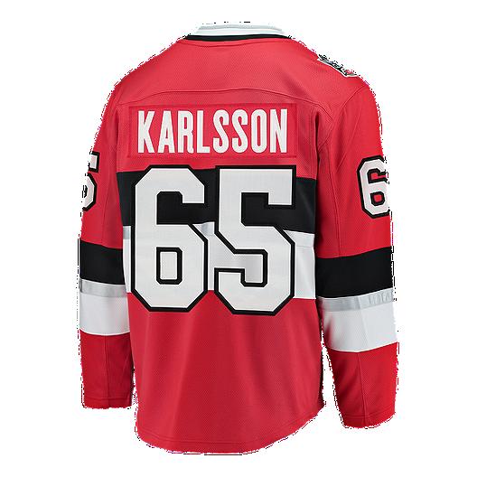 buy online 4e814 391b0 Ottawa Senators NHL 100th Anniversary Erik Karlsson Hockey ...