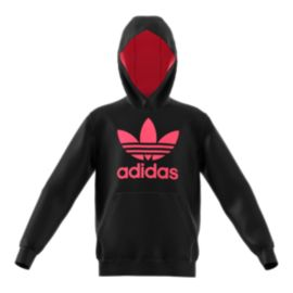 adidas Originals Girls' Poly Pullover Hoodie