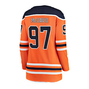Edmonton Oilers Women's Connor McDavid Fanatics Breakaway Home Hockey Jersey
