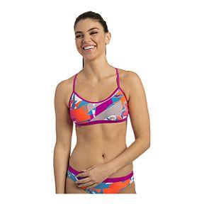 a6b978cbe Nike Women s Abstract Crossback Sport Bikini Top