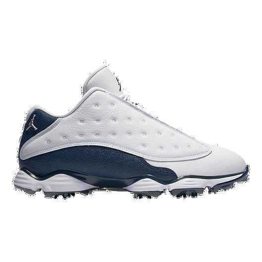 free shipping 9a17f 2542a Nike Men s Jordan 13 Golf Shoes - White Navy   Sport Chek