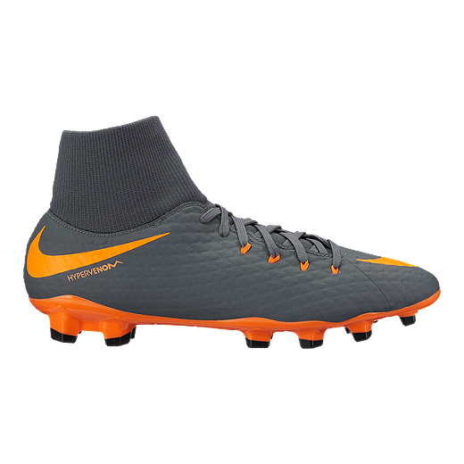 be801a1952b Nike Men s Hypervenom Phantom 3 Academy Dynamic Fit FG Outdoor Soccer Cleats  - Dark Grey