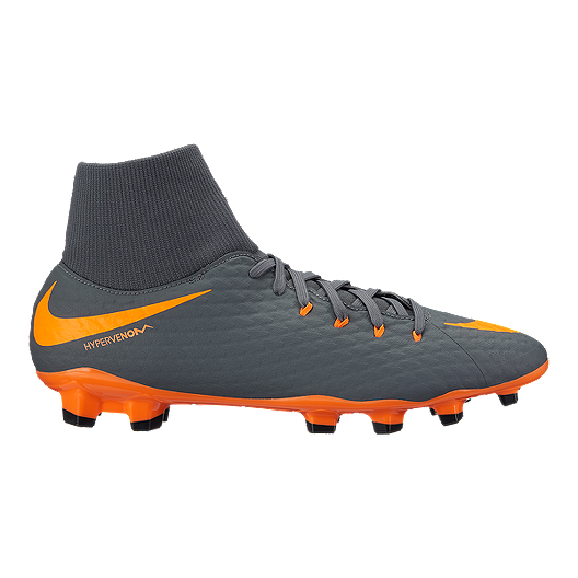 new style e0168 d31c1 Nike Men's Hypervenom Phantom 3 Academy Dynamic Fit FG Outdoor Soccer  Cleats - Dark Grey/Orange