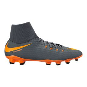 906db24c6dad8 Nike Men's Hypervenom Phantom 3 Academy Dynamic Fit FG Outdoor Soccer Cleats  - Dark Grey/