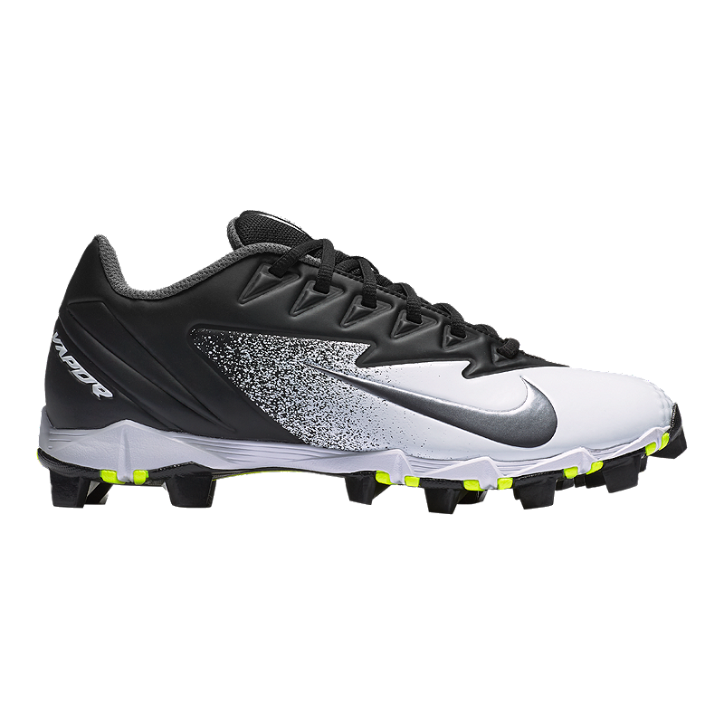 33c6d13daef3 Nike Men s Vapor UltraFly Keystone Low Baseball Cleats - Black Silver White