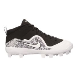 Nike Men's Force Trout Pro Low Baseball Cleats - Black/White