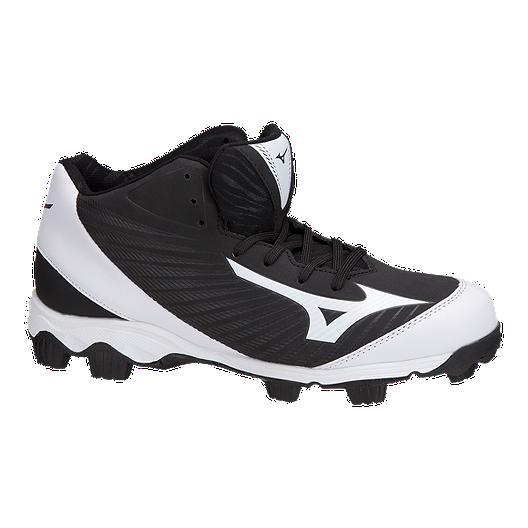 ab442e93b Mizuno Men s 9-Spike Advanced Franchise Mid Baseball Cleats - Black White