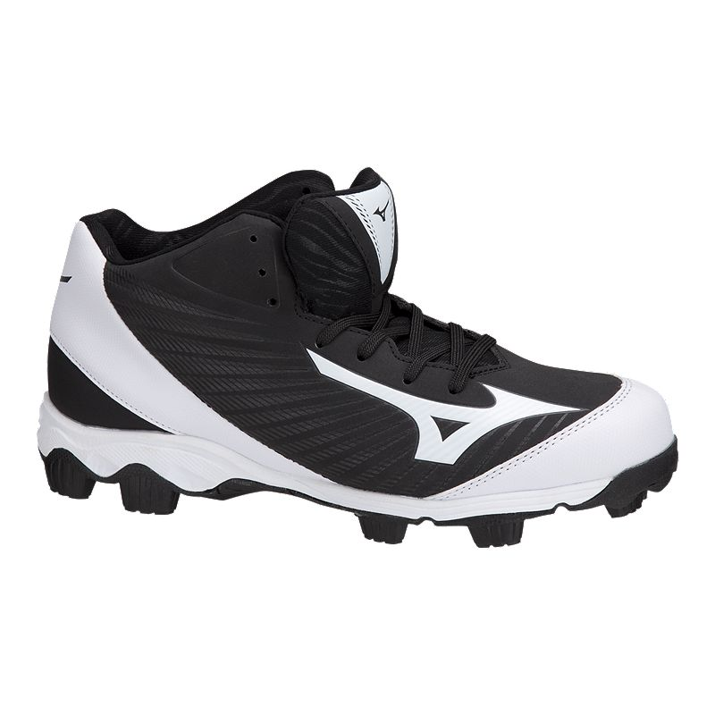 3f9595722cd Mizuno Men s 9-Spike Advanced Franchise Mid Baseball Cleats - Black White  (889961146459