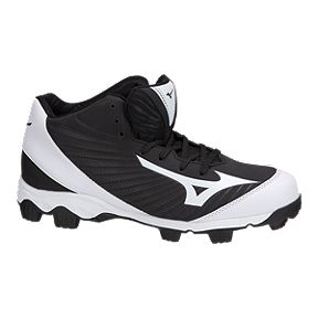 newest 0cd39 0bbbf Mizuno Mens 9-Spike Advanced Franchise Mid Baseball Cleats - BlackWhite