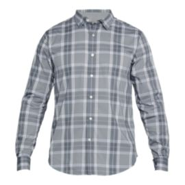 Under Armour Men's Performance Plaid Long Sleeve Shirt - Grey