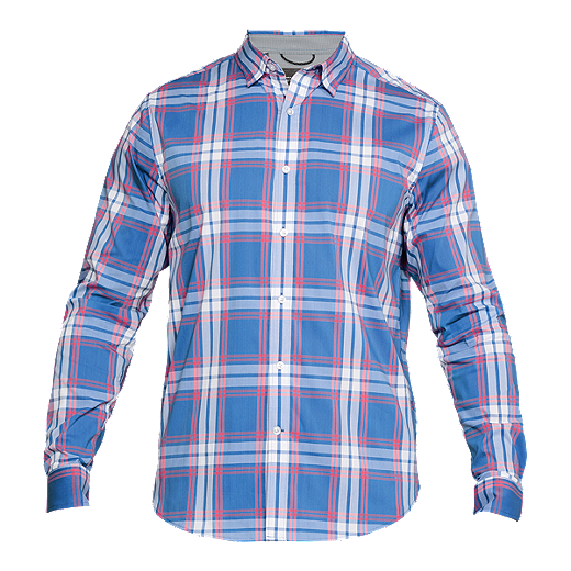 53a397ad65 Under Armour Men's Performance Plaid Long Sleeve Shirt - Dark Blue