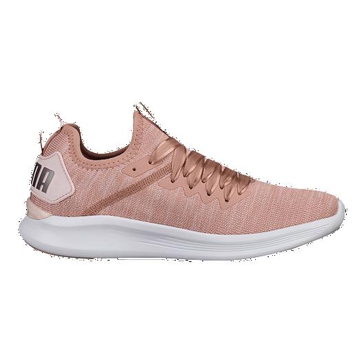 uk availability 48fb2 0f44a PUMA Women's Ignite Flash evoKNIT Satin Shoes - Pink | Sport ...