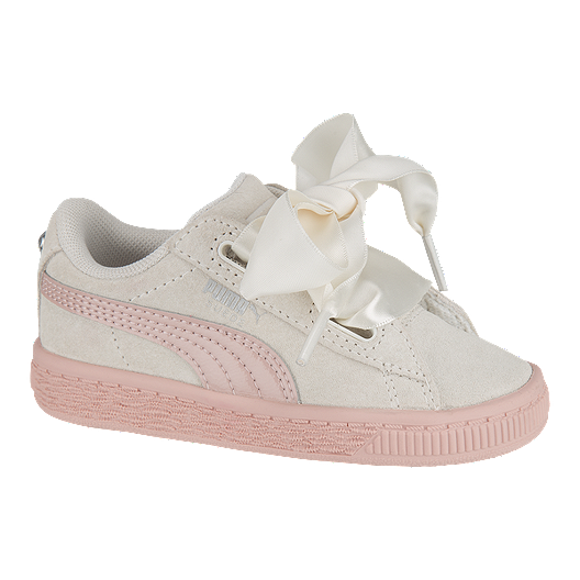 watch 7b91d 9d1c4 PUMA Toddler Girls' Suede Heart Jewel Shoes - White/Beige ...