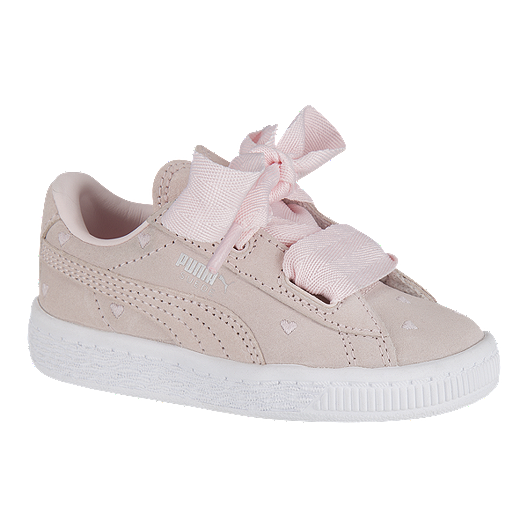 hot sale online 32a0c 2f148 PUMA Toddler Girls' Suede Heart Valentine Shoes - Pink