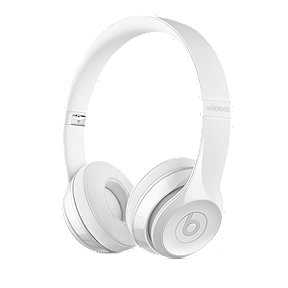 Beats Solo3 Wireless Headphones – Gloss White