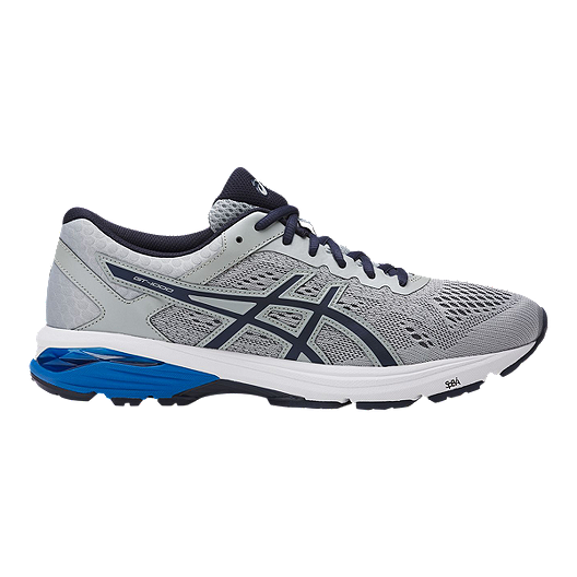 ASICS Men's GT 1000 6 2E Wide Width Running Shoes - Grey/Blue