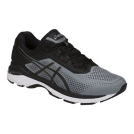 ASICS Men's GT 2000 6 4E Extra Wide Width Running Shoes - Grey/Black/White