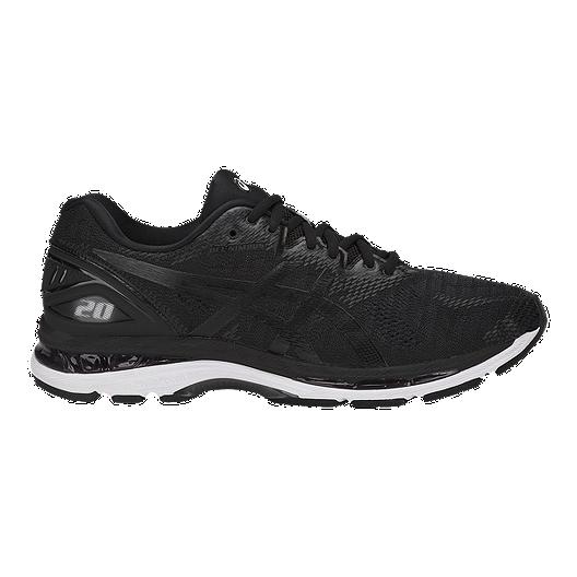 c75b87999 ASICS Men s Gel Nimbus 20 2E Wide Width Running Shoes - Black White Grey