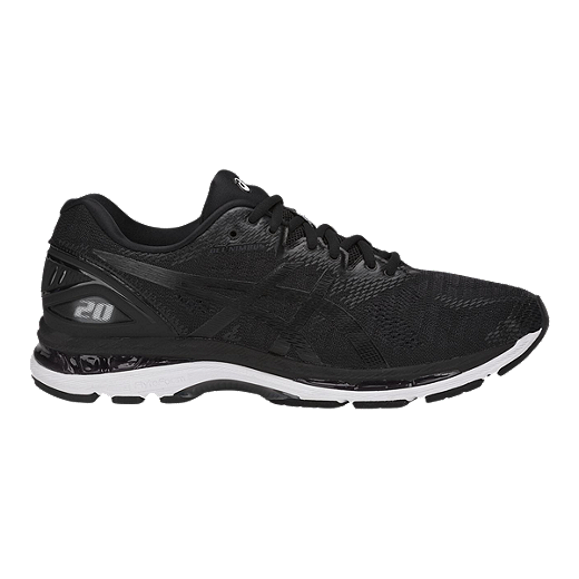 4ca8996cb0e1 ASICS Men's Gel Nimbus 20 4E Extra Wide Width Running Shoes - Black/White/