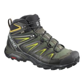 Salomon Men's X Ultra 3 Mid Gore-Tex Hiking Boots - Gray/Black/Green