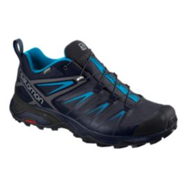 Salomon Men's X Ultra 3 Gore-Tex Hiking Shoes - Graphite/Blue
