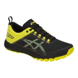 ASICS Men's Gecko XT Trail Running Shoes - Black/Grey/Yellow
