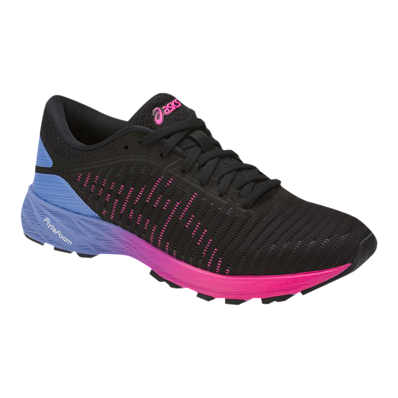 18a3e85cf695 ASICS Women s DynaFlyte 2 Running Shoes - Black Pink Purple