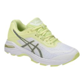 ASICS Women's GT 2000 6 Running Shoes - White/Silver/Green