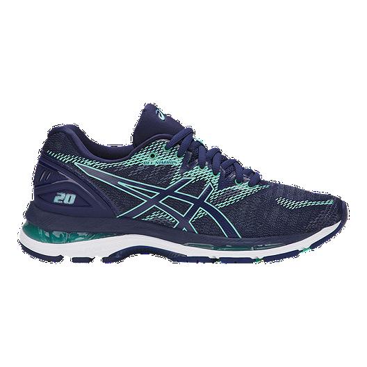 e906b8ab966 ASICS Women s Gel Nimbus 20 D Wide Width Running Shoes - Blue Green ...