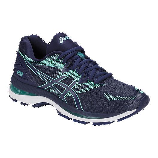 upouusi todella mukava sulavalinjainen ASICS Women's Gel Nimbus 20 D Wide Width Running Shoes - Blue/Green