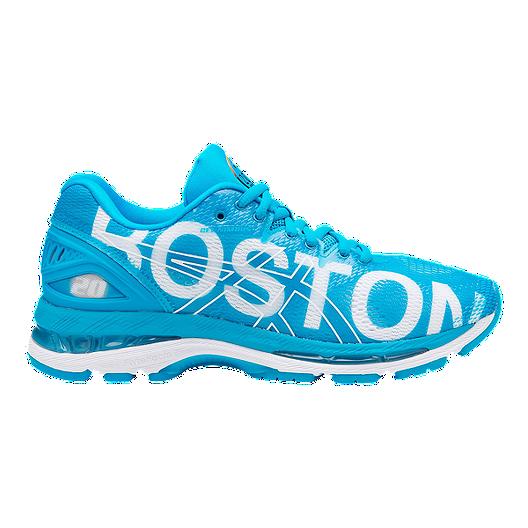 f925b6ce34fa ASICS Women s Gel Nimbus 20  Boston 2018  Running Shoes - Blue ...