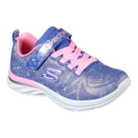 Skechers Girls' Quick Kicks Shimmer Dance AC Preschool Shoes - Purple/Sparkle