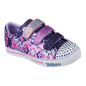 65580f7041ea Skechers Girls  Twinkle Toes  Shuffles -Sparkle Glitz - Pop Party 3V  Preschool Shoes