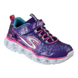 Skechers Girls' Galaxy Lights Preschool Shoes - Purple/Pink