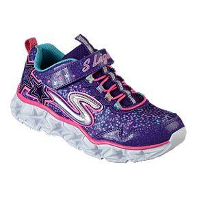 da2f079e14c6 Skechers Girls  Galaxy Lights Preschool Shoes - Purple Pink