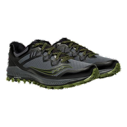 11072f062b2 Saucony Men s Peregrine 8 Running Shoes - Grey Black Green. (0). View  Description