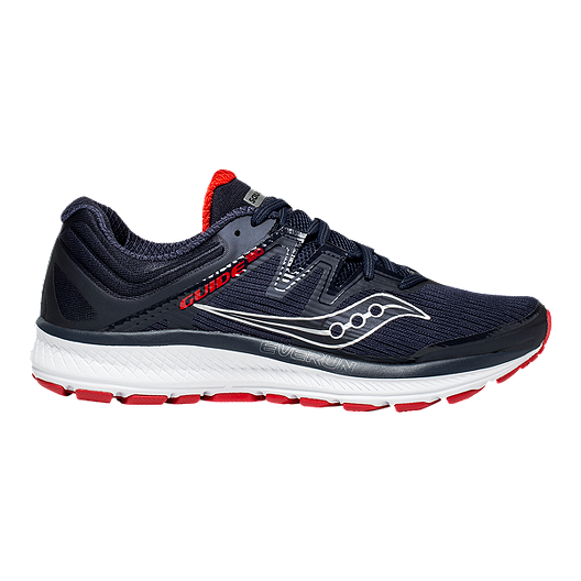 79c02d85f1b9 Saucony Men s Everun Guide ISO Running Shoes - Navy Red