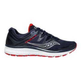 Saucony Men's Everun Guide ISO Running Shoes - Navy/Red