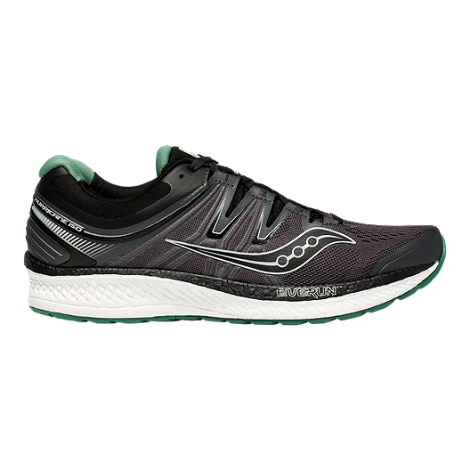 Saucony Men's Hurricane ISO 4 Running Shoes - Black/Grey/Green