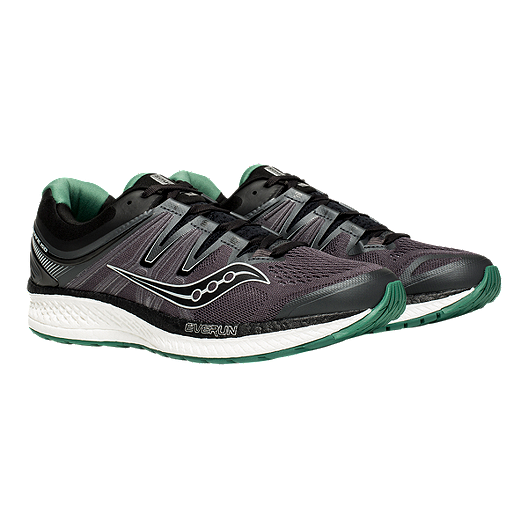 5574e17212 Saucony Men's Hurricane ISO 4 Running Shoes - Black/Grey/Green