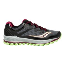 Saucony Women's Peregrine 8 Trail Running Shoes - Black/Mint/Berry