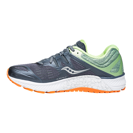 daac3f14 Saucony Women's Everun Guide ISO Running Shoes - Grey/Mint/Orange