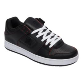 DC Men's Manteca SE Skate Shoes - Black/Red/White