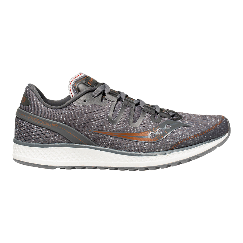 Saucony Women s Everun Freedom ISO Running Shoes - Grey Denim Copper ... 41a0fe74b