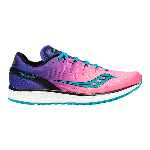 5e59177287 Saucony Women s Everun Freedom ISO Running Shoes - Pink Purple Teal ...