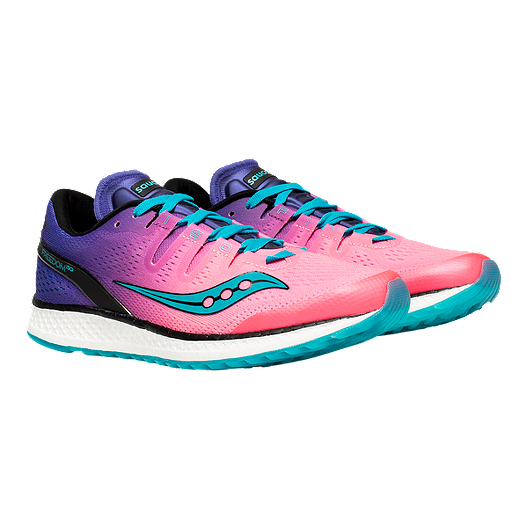 76258f3703ed Saucony Women s Everun Freedom ISO Running Shoes - Pink Purple Teal. (0).  View Description