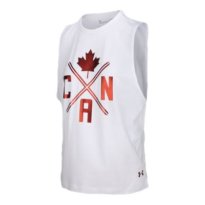 Under Armour Women's Team Canada Performance Graphic Muscle Tank