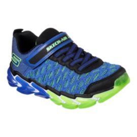 Skechers Kids' Skech-Air 4 Preschool Shoes - Blue/Lime